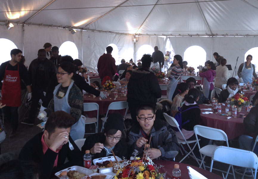 Off site Thanksgiving meal