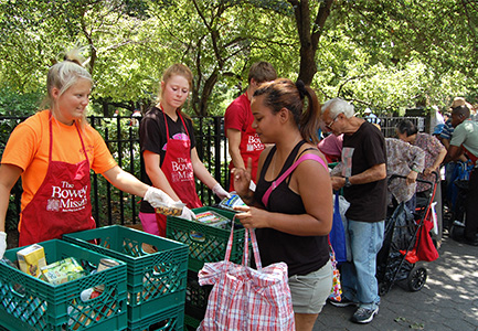 Church missions team helps with The Bowery Mission's outreach program