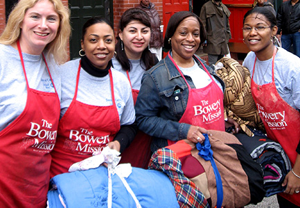 Volunteers Hosting a Clothing Drive for The Bowery Mission