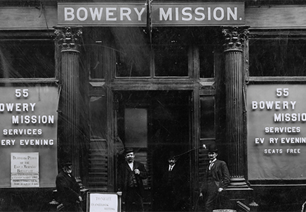 Early Bowery Mission facade